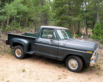 pickup truck that she bought brand-new in 1978, a Ford F-100 step