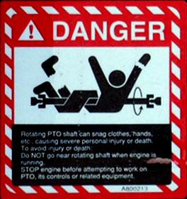 Severe Injury Warning Label