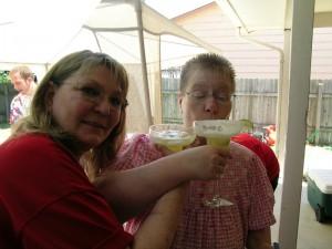 Paula Vatrano and Marilyn Wray at Paula's July 8, 2007 birthday party