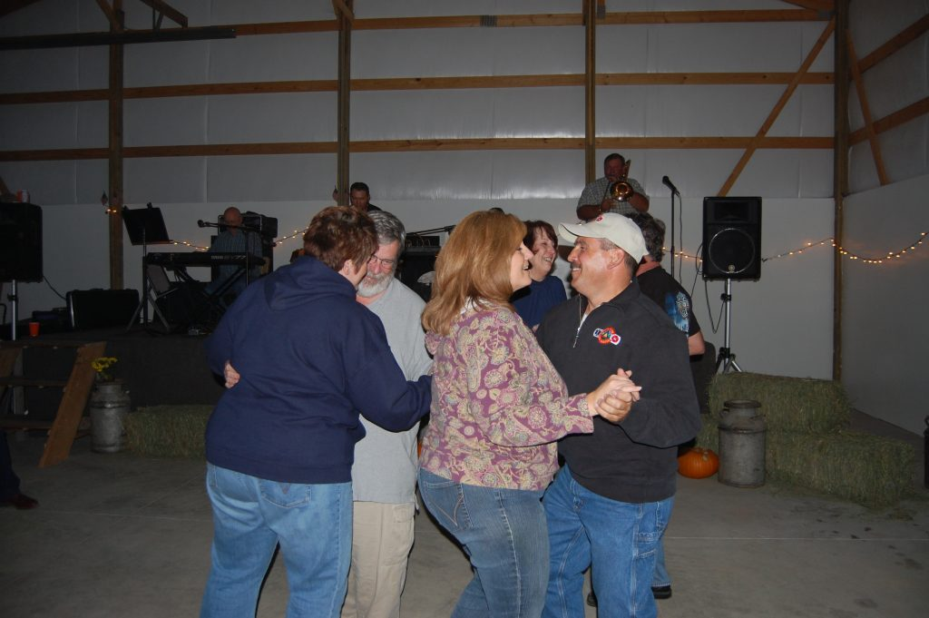 Sherry and Josh dancing with Tammi and I at the Dutch Hop